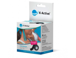 Kinesiology Adhesive Tape K-Active Classic 5 cm x 5 m (black)