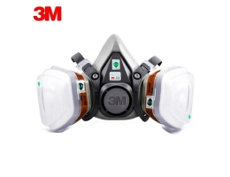 3M 6200 gas mask with 3M 6001 organic vapor filter cartridge Anti-Fog Haze.
